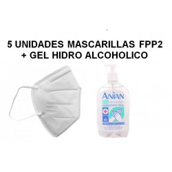 Pack 5 Mascarillas KN95...