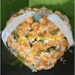 Corazon  de flores  naturales nº 7