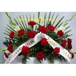 Centro  de flores  naturales para funeral nº 4