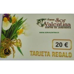 Tarjeta regalo Viveros Sor Valentina  20.00 Euros